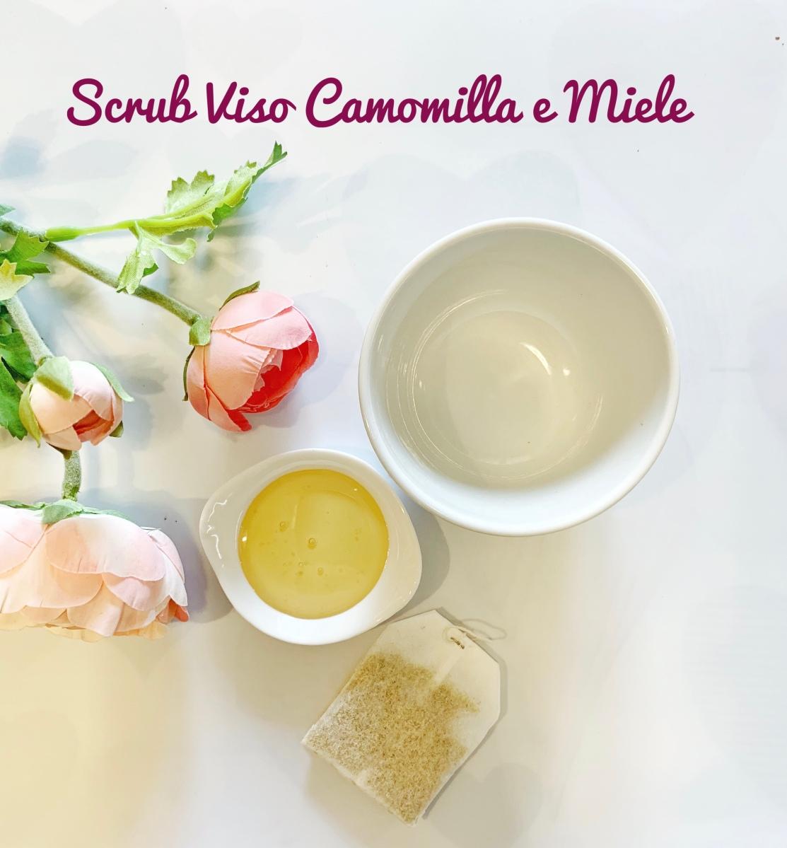 Ricette Beauty: Scrub Viso con Camomilla e Miele.
